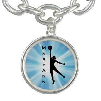 Bracelet de charme de conception du basket-ball de