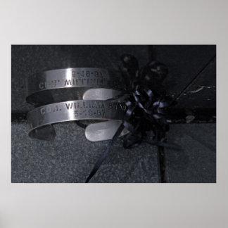 Bracelet de prisonnier de guerre du Vietnam Poster