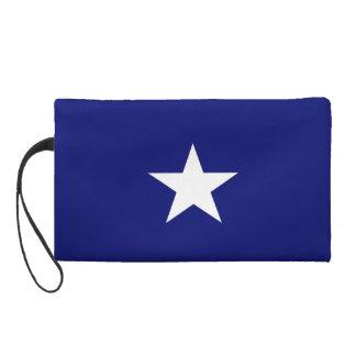 Bracelet mignon de drapeau bleu sac à main avec dragonne
