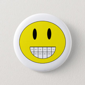 """Braces Happy Face"" Button"