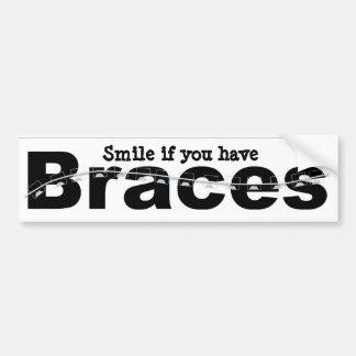 Braces, smile bumper sticker