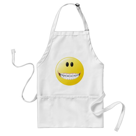 Braces Smiley Face Standard Apron