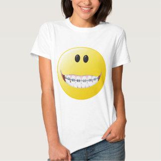 Braces Smiley Face T-shirts