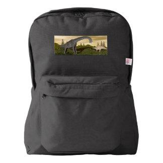 Brachiosaurus and stegosaurus dinosaurs- 3D render Backpack