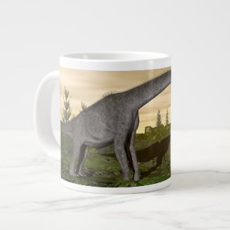 Brachiosaurus and stegosaurus dinosaurs- 3D render Large Coffee Mug