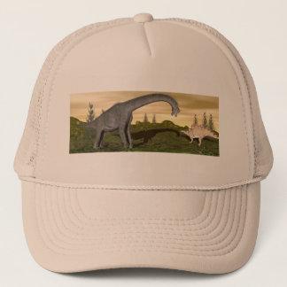 Brachiosaurus and stegosaurus dinosaurs- 3D render Trucker Hat