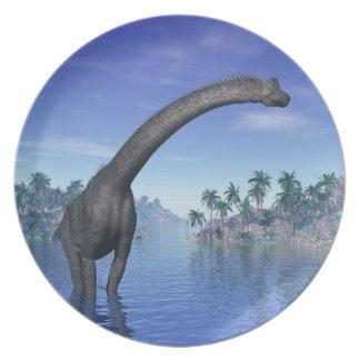 Brachiosaurus dinosaur - 3D render Dinner Plate