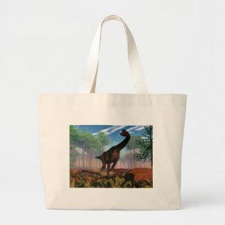 Brachiosaurus dinosaur - 3D render Large Tote Bag