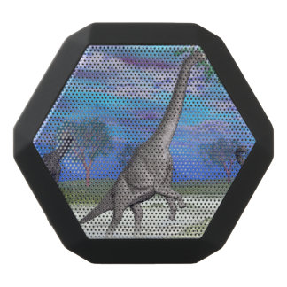 Brachiosaurus dinosaur eating - 3D render Black Bluetooth Speaker