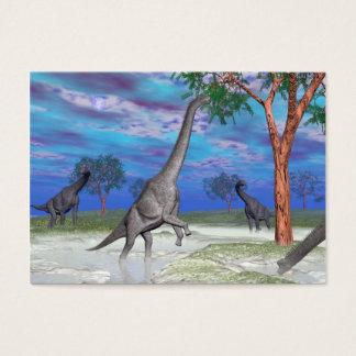 Brachiosaurus dinosaur eating - 3D render Business Card