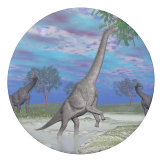 Brachiosaurus dinosaur eating - 3D render Eraser