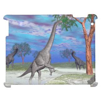 Brachiosaurus dinosaur eating - 3D render iPad Covers