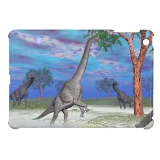 Brachiosaurus dinosaur eating - 3D render iPad Mini Cases
