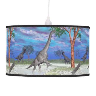 Brachiosaurus dinosaur eating - 3D render Pendant Lamp