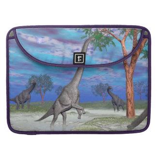 Brachiosaurus dinosaur eating - 3D render Sleeve For MacBooks
