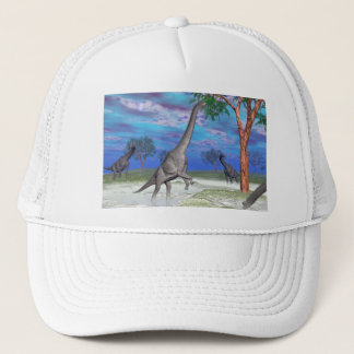 Brachiosaurus dinosaur eating - 3D render Trucker Hat