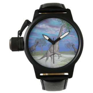 Brachiosaurus dinosaur eating - 3D render Wrist Watches