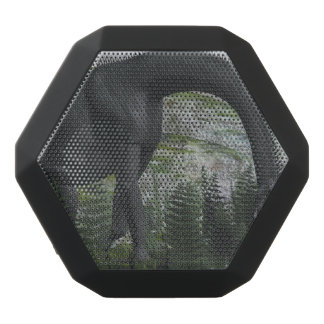 Brachiosaurus dinosaur eating fern - 3D render Black Bluetooth Speaker