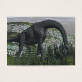 Brachiosaurus dinosaur eating fern - 3D render Business Card