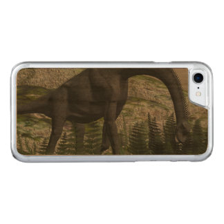 Brachiosaurus dinosaur eating fern - 3D render Carved iPhone 8/7 Case