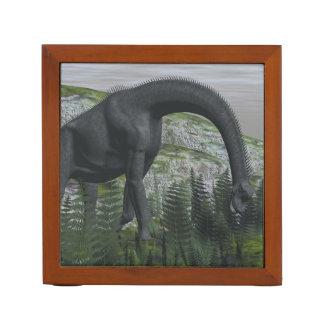 Brachiosaurus dinosaur eating fern - 3D render Desk Organizer
