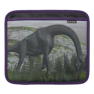 Brachiosaurus dinosaur eating fern - 3D render iPad Sleeve