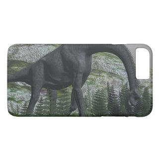 Brachiosaurus dinosaur eating fern - 3D render iPhone 8 Plus/7 Plus Case