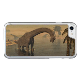Brachiosaurus dinosaur in water - 3D render Carved iPhone 8/7 Case