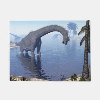 Brachiosaurus dinosaur in water - 3D render Doormat