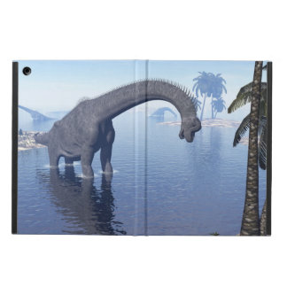 Brachiosaurus dinosaur in water - 3D render iPad Air Cover