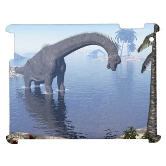 Brachiosaurus dinosaur in water - 3D render iPad Cases