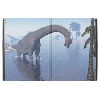 "Brachiosaurus dinosaur in water - 3D render iPad Pro 12.9"" Case"