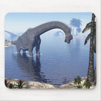 Brachiosaurus dinosaur in water - 3D render Mouse Pad