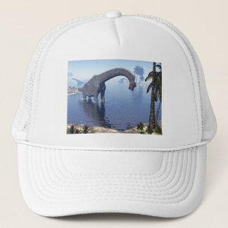 Brachiosaurus dinosaur in water - 3D render Trucker Hat