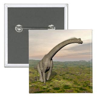 Brachiosaurus dinosaur walking - 3D render 2 Inch Square Button