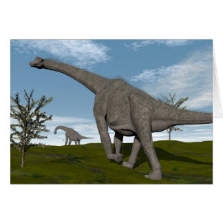 Brachiosaurus dinosaur walking - 3D render Card