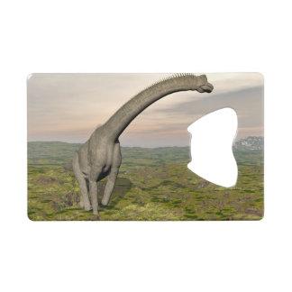 Brachiosaurus dinosaur walking - 3D render Credit Card Bottle Opener