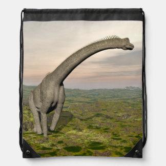Brachiosaurus dinosaur walking - 3D render Drawstring Bag