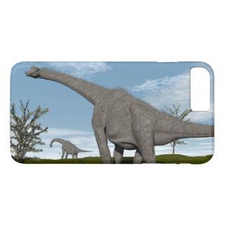 Brachiosaurus dinosaur walking - 3D render iPhone 8 Plus/7 Plus Case