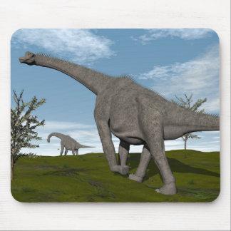 Brachiosaurus dinosaur walking - 3D render Mouse Pad