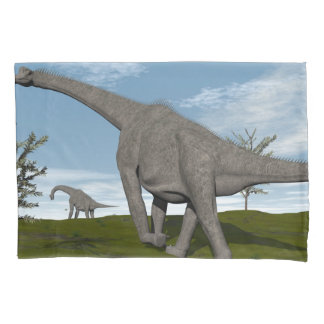 Brachiosaurus dinosaur walking - 3D render Pillowcase