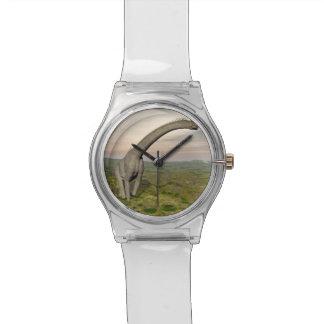 Brachiosaurus dinosaur walking - 3D render Wrist Watch