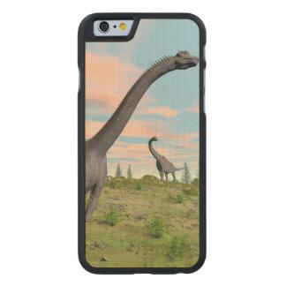 Brachiosaurus dinosaurs - 3D render Carved Maple iPhone 6 Case