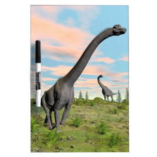 Brachiosaurus dinosaurs - 3D render Dry Erase Board