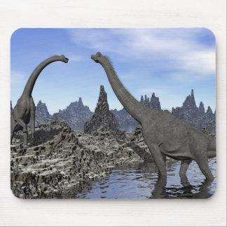 Brachiosaurus dinosaurs - 3D render Mouse Pad