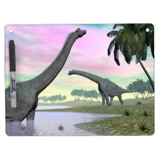 Brachiosaurus dinosaurs in nature - 3D render Dry-Erase Boards