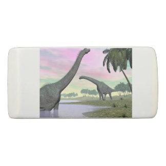 Brachiosaurus dinosaurs in nature - 3D render Eraser