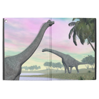 "Brachiosaurus dinosaurs in nature - 3D render iPad Pro 12.9"" Case"