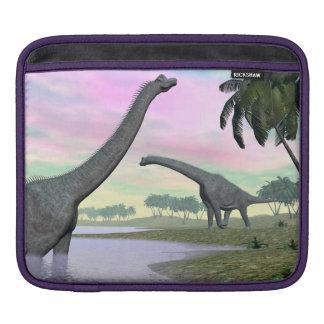 Brachiosaurus dinosaurs in nature - 3D render iPad Sleeve