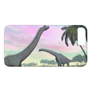 Brachiosaurus dinosaurs in nature - 3D render iPhone 8 Plus/7 Plus Case